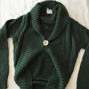 Sweaters - Forest Green Circle Knit Sweater